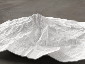 8'' Mt. Jefferson, Oregon, USA, WSF in White Natural Versatile Plastic