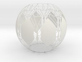 Lampshade (Designer Sphere1) in White Natural Versatile Plastic