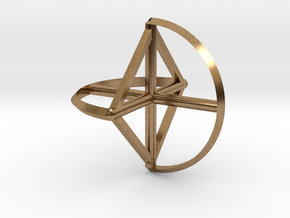 Wireframe Sphericon in Natural Brass