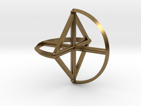 Wireframe Sphericon in Natural Bronze