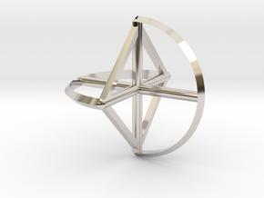 Wireframe Sphericon in Platinum