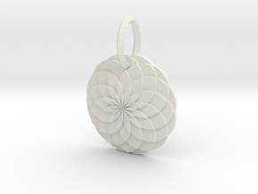 Sacred geometry Pendant  in White Natural Versatile Plastic