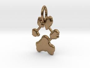 Custom Paw Print Pendants - Roxy's Paw Print in Natural Brass