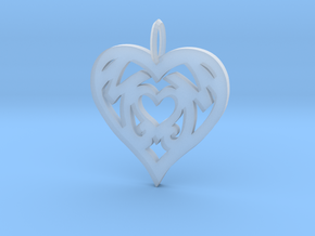 Mom love pendant 1.5 inch in Smooth Fine Detail Plastic