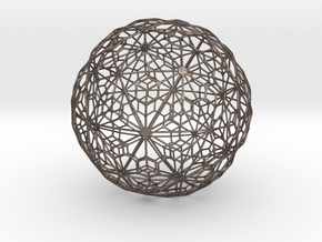 Sandstone Sphere_d2 in Polished Bronzed Silver Steel