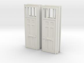 Door Type 16 X 4 - 4mm Scale in White Natural Versatile Plastic