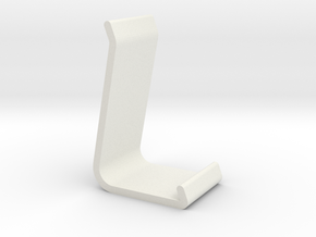 Tablet / Smartphone Stand in White Natural Versatile Plastic