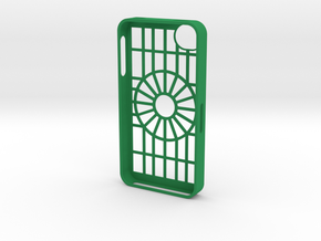 iphone 4s circle 1 in Green Strong & Flexible Polished