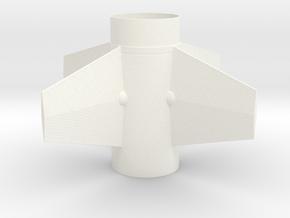 Nike Apache fin unit for T35 (Quest) tube in White Processed Versatile Plastic