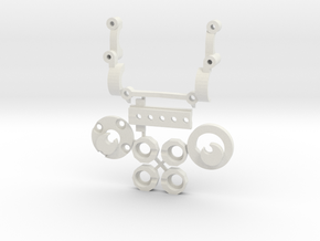 Subchassis V6 Smallparts in White Natural Versatile Plastic