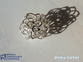 Doda Lotus - 25mm (1 inch) in Natural Silver