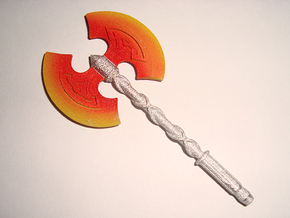 Action Figure Weapon: Greataxe (5mm peg) in White Processed Versatile Plastic