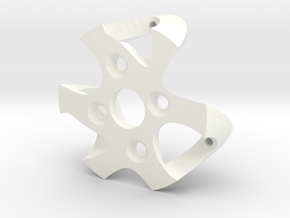 China Gimbal tuning Motor Mount #2  in White Processed Versatile Plastic