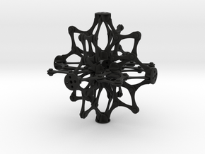 Hoberman Sphere  in Black Natural Versatile Plastic