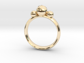 GeoJewel Ring UK Size R US Size 8 5/8 in 14K Yellow Gold
