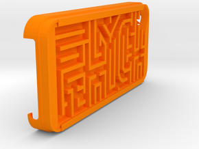 FLYHIGH: IPhone5 Maze Case in Orange Strong & Flexible Polished