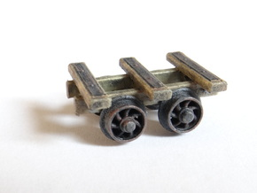 3 Bar Narrow Gauge Slab Wagon (x3) in Smooth Fine Detail Plastic