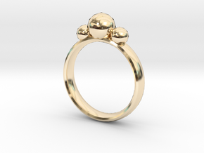 GeoJewel Ring UK Size Q US Size 8 in 14K Yellow Gold