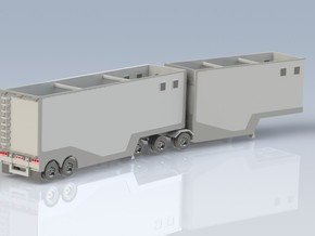 N scale 1/160 Woodchip B-train trailer in Frosted Ultra Detail