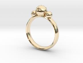 GeoJewel Ring UK Size O US Size 7 in 14K Yellow Gold