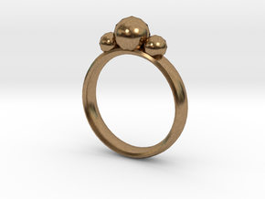 GeoJewel Ring UK Size O US Size 7 in Natural Brass