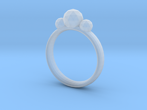 GeoJewel Ring UK Size O US Size 7 in Smooth Fine Detail Plastic