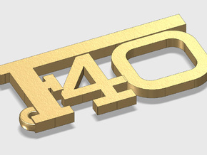 KEYCHAIN F40 LOGO in Polished Gold Steel