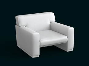 1:39 Scale Model - ArmChair 05 in White Strong & Flexible