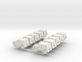 N Scale  Munga X10 in White Natural Versatile Plastic