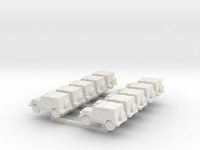 N Scale  Munga X10 in White Natural Versatile Plastic