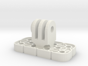 VEX IQ GoPro Adapter W Locknut in White Natural Versatile Plastic