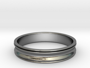 Simple Curved Ring (Sz 8.5) in Polished Silver
