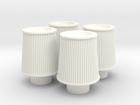 1/12 K&N Cone Style Air Filters TDR 1047 in White Processed Versatile Plastic
