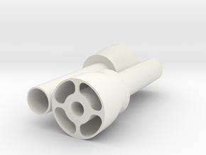 Thruster Attachment & Support Tube Pair Disassembl in White Natural Versatile Plastic