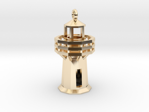 Lighthouse Pendant in 14K Yellow Gold