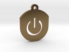 On Button Circular Frame Pendant Insert in Natural Bronze