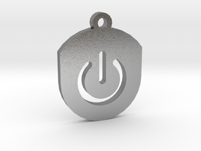 On Button Circular Frame Pendant Insert in Natural Silver