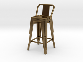 1:24 Pauchard Stool, Low Back in Natural Bronze