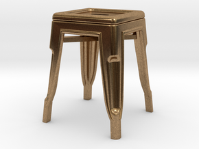 1:24 Low Pauchard Stool in Natural Brass