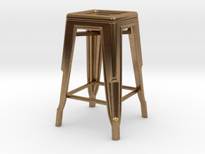 1:24 Pauchard Stool in Natural Brass