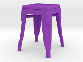 1:12 Low Pauchard Stool in Purple Strong & Flexible Polished