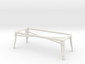 1:24 Pauchard Coffee Table Frame in White Strong & Flexible