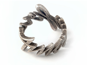 Amour Fou Ring (Various Sizes) in Polished Bronzed Silver Steel