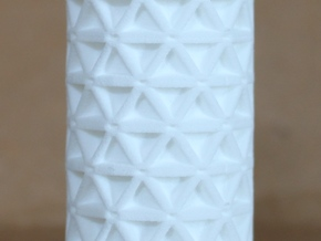 3mm isogrid cylinder in White Natural Versatile Plastic