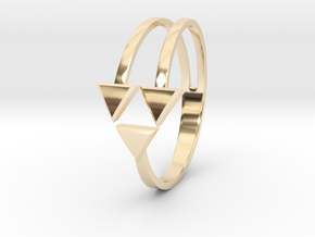 Ring of Triforce in 14K Gold: 6 / 51.5