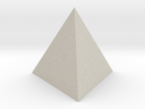 Tetrahedron (small) in Natural Sandstone
