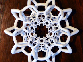 Toroidal Half 120-Cell in White Natural Versatile Plastic