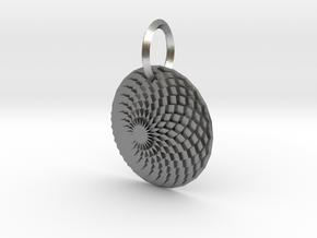 Sacret Flower of geometry in Raw Silver