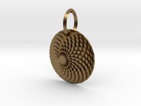 Sacret Flower of geometry in Natural Bronze