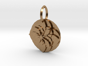 Sacret Flower geometry in Natural Brass
